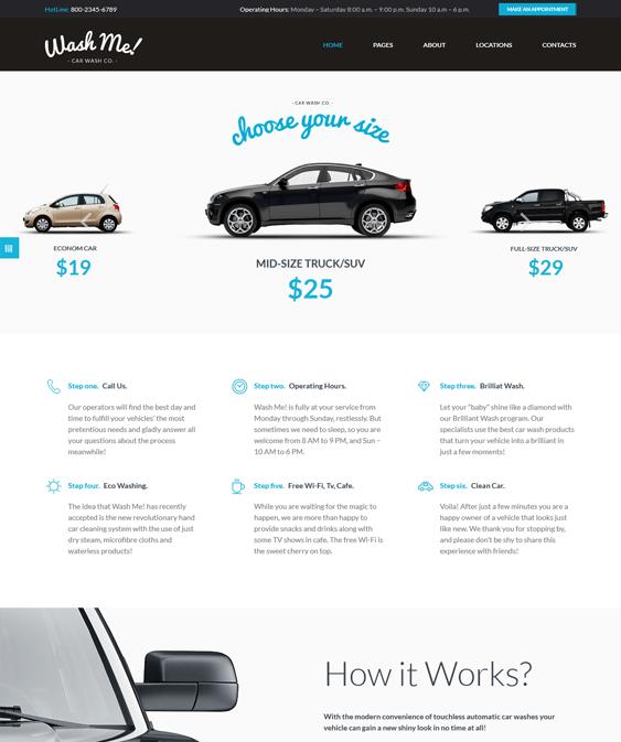 washme car vehicle automotive wordpress themes