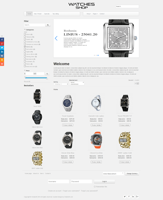 watches virtuemart themes