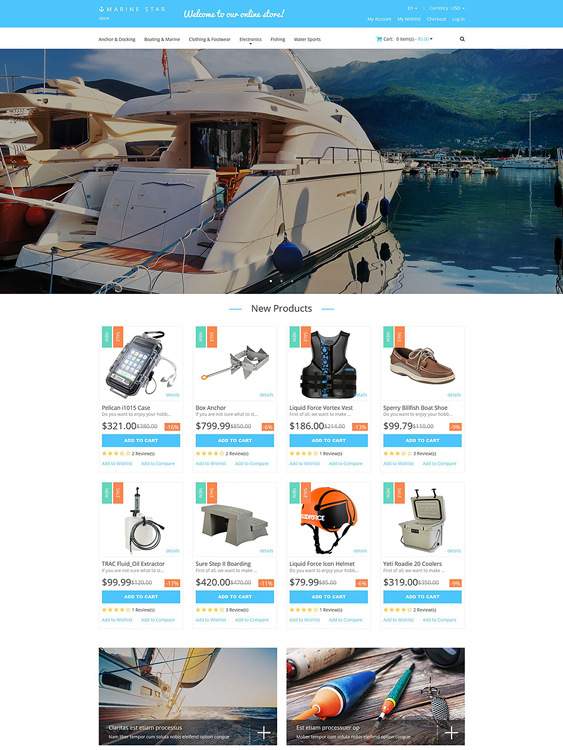 yachting sports fitness magento themes