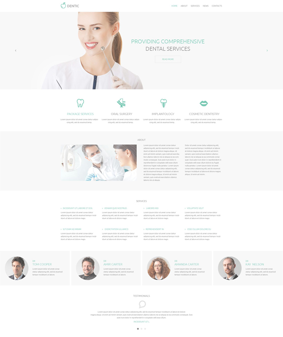 dentistry clean drupal themes
