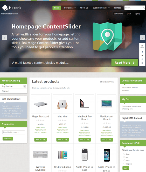 hexeris magento themes electronic stores