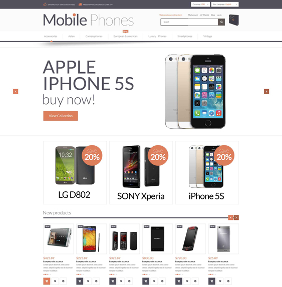 mobile magento themes electronic stores 1