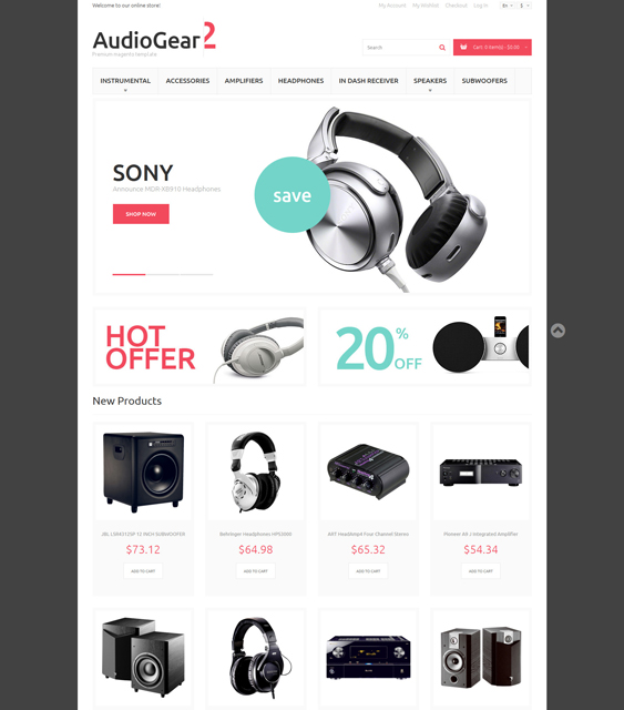 music magento themes electronic stores