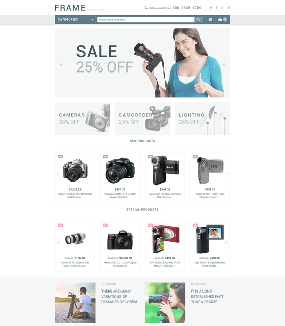recording magento themes electronic stores