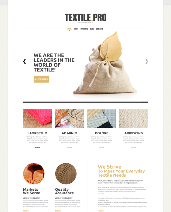 Textile Industry PowerPoint Templates