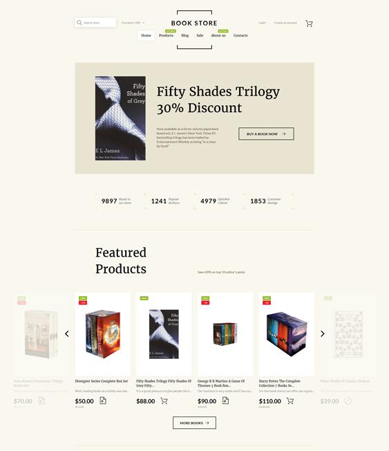 book shop shopify themes books