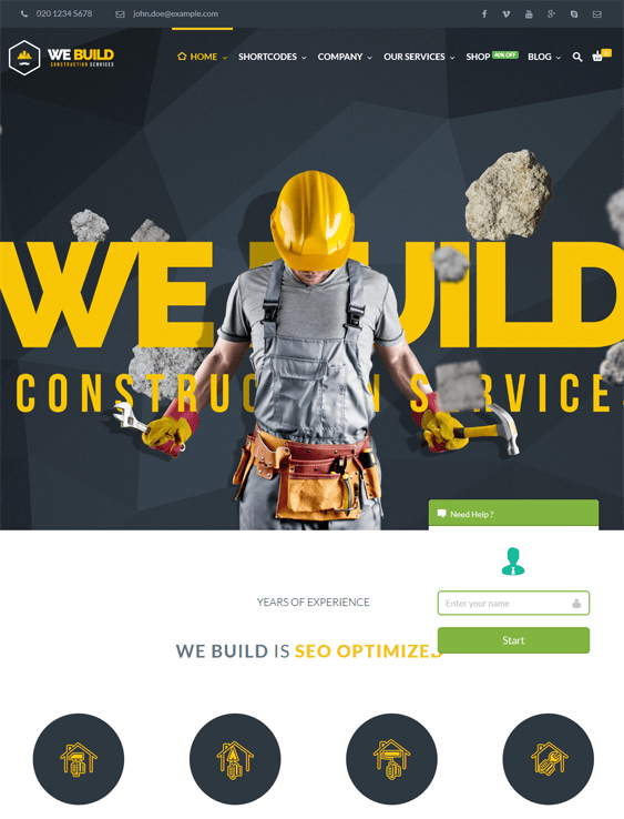 build contractor construction wordpress themes
