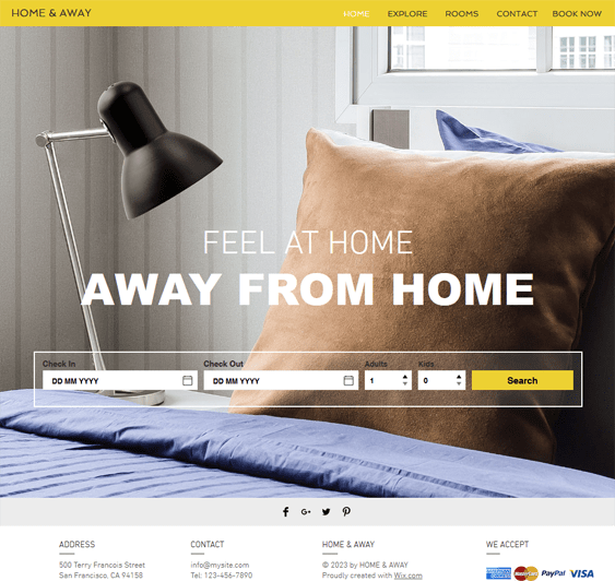 city apartment free hotel wix templates