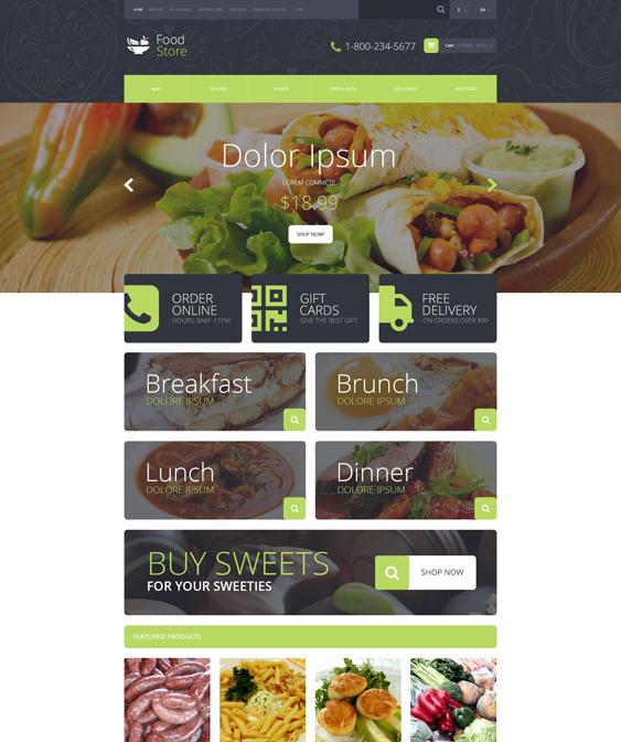 food shop drink restaurant opencart themes