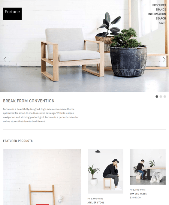 fortune free minimal bigcommerce themes home decor furniture