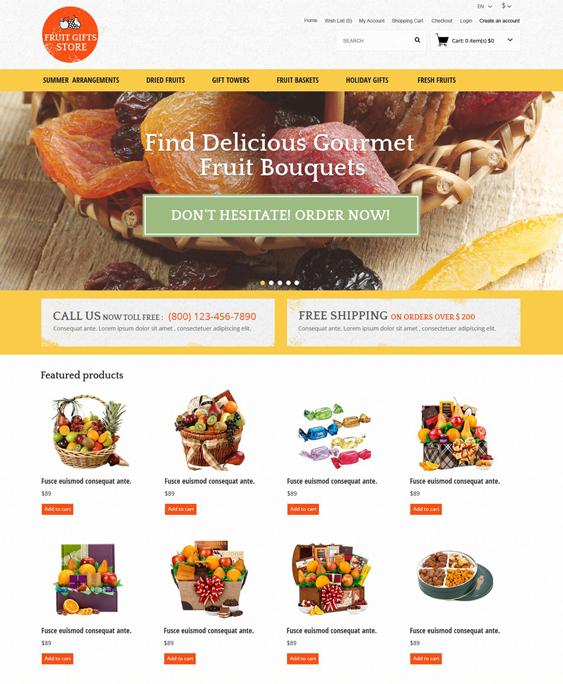 fruit food drink restaurant opencart themes