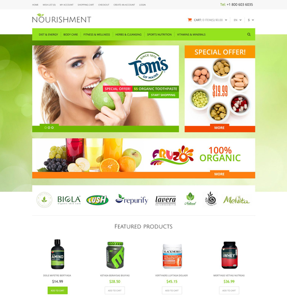 medical health opencart themes sport
