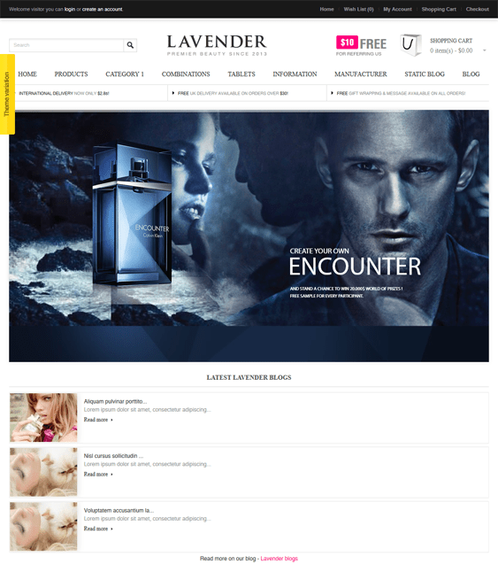 lavender beauty products cosmetics hair care perfumes opencart themes