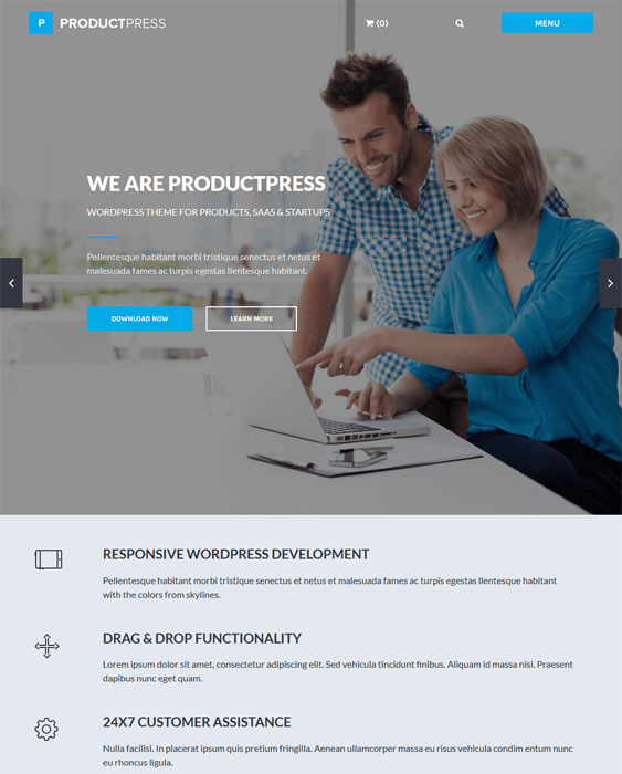 productpress easy digital downloads wordpress themes