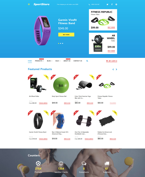 sport store responsive shopify themes