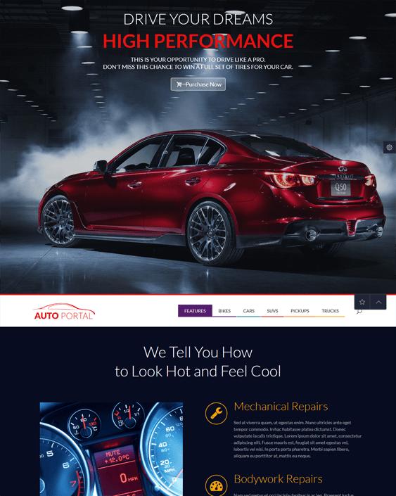 auto portal car vehicle automotive wordpress themes