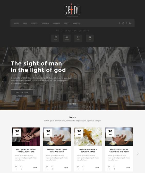 credo church wordpress themes