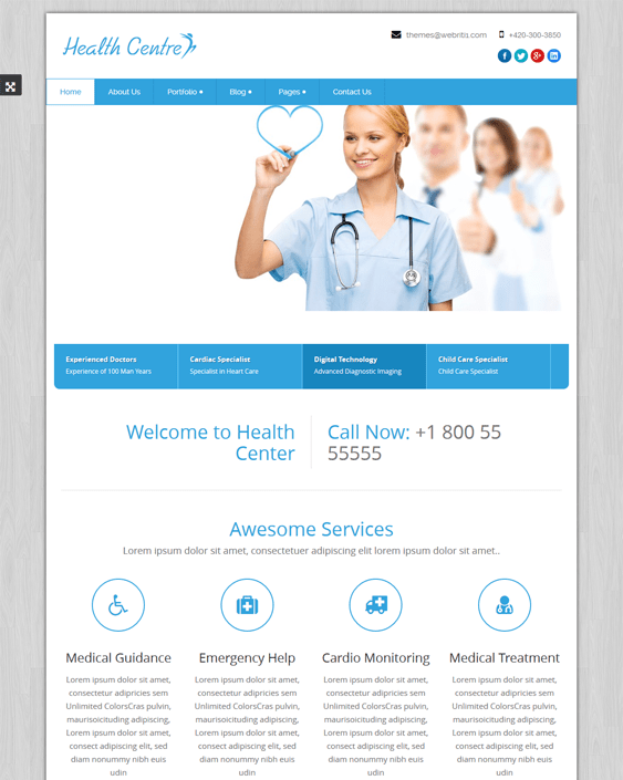 healthcentre medical wordpress themes
