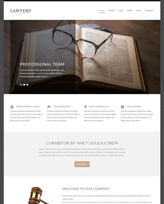 lawyer attorney wordpress themes