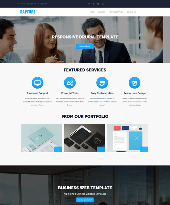 rapture business drupal themes