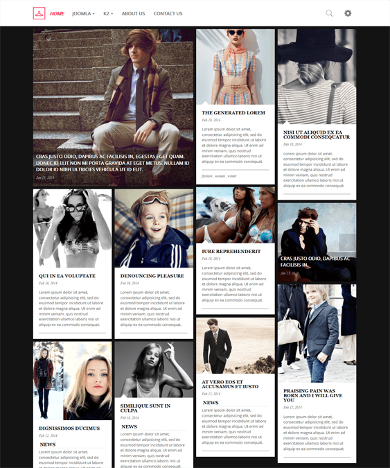fashion portfolio joomla templates