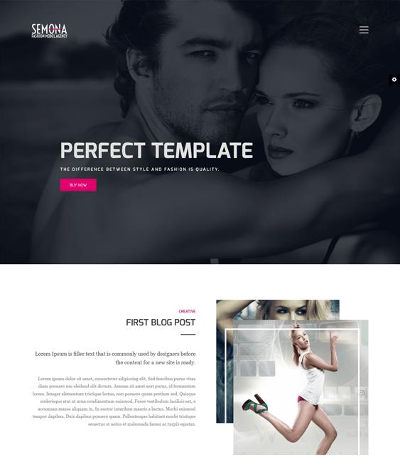 fashion semona portfolio joomla templates