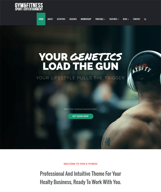 gym fitness wordpress themes sports