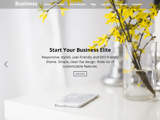 business lite free one page wordpress themes