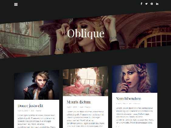 oblique free dark wordpress themes