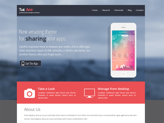 skt the app free wordpress themes promoting apps