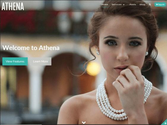 athena free parallax wordpress themes