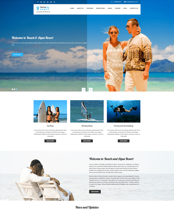 skt beach hotel wordpress themes