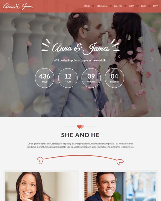 amore wedding wordpress themes
