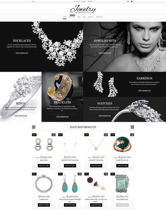 Jewelry responsive shopify themes
