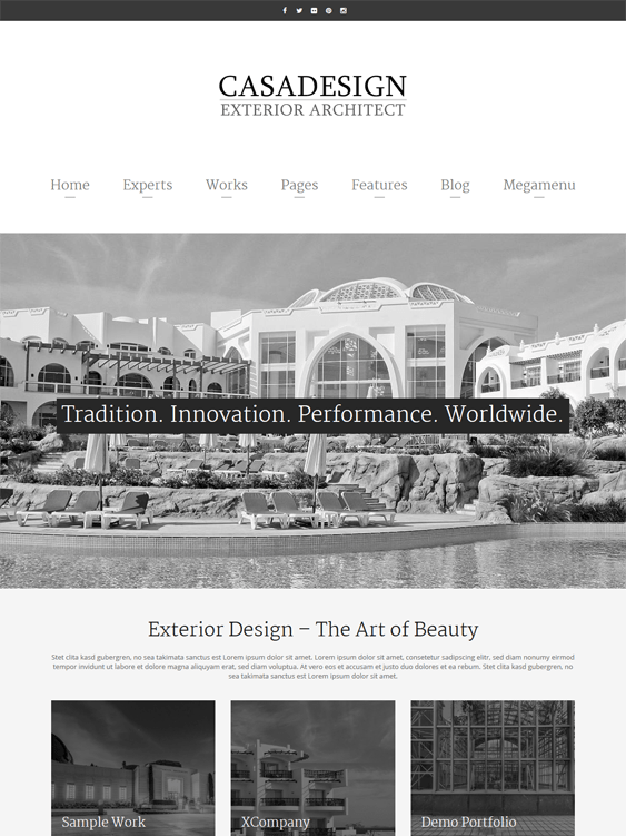 casadesign architect architecture firms wordpress themes