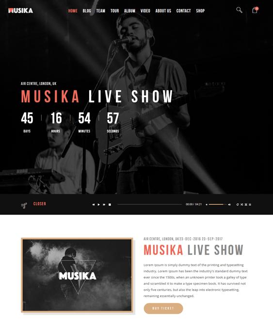 musika joomla templates events