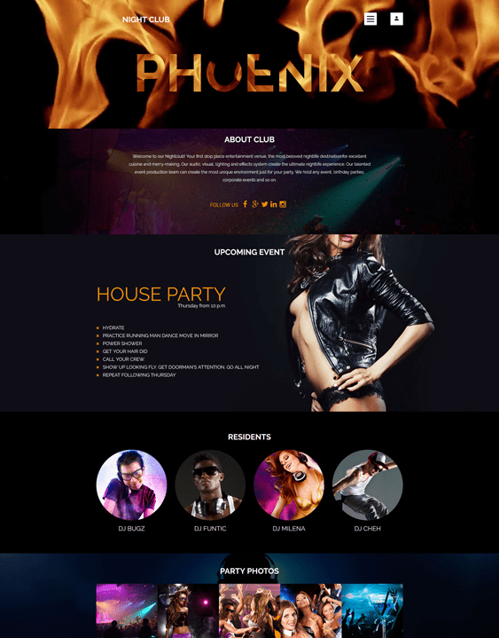 phoenix joomla templates events