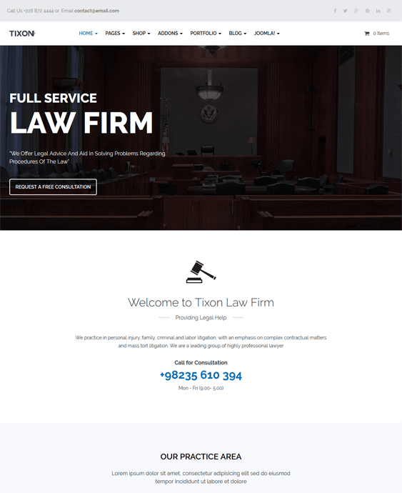 tixon lawyers law firms joomla templates