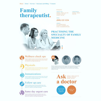 Doctor Responsive Website Template (medical Bootstrap website template) Item Picture