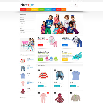 Everything for Infants PrestaShop Theme (PrestaShop theme for selling clothing for kids, children, and babies) Item Picture
