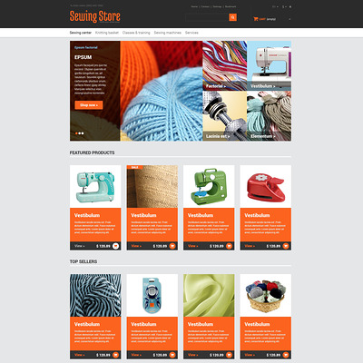 Everything for Sewing PrestaShop Theme (PrestaShop theme for craft stores) Item Picture