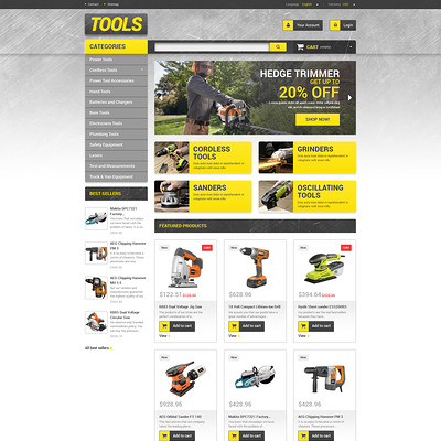 Get Tools Online PrestaShop Theme (PrestaShop theme for selling tools) Item Picture
