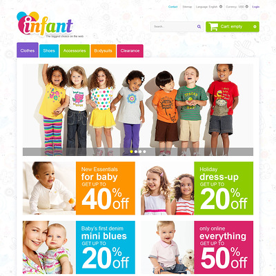 Infant Care PrestaShop Theme (PrestaShop theme for selling clothing for kids, children, and babies) Item Picture