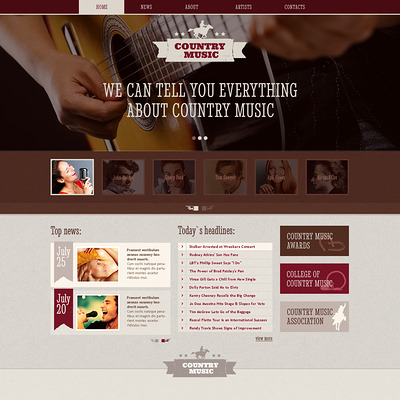 Music Blog Responsive Website Template (Bootstrap template for music websites) Item Picture