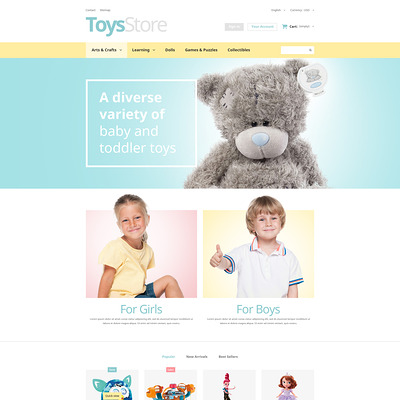 Toys Shop PrestaShop Theme (PrestaShop theme for toy stores) Item Picture