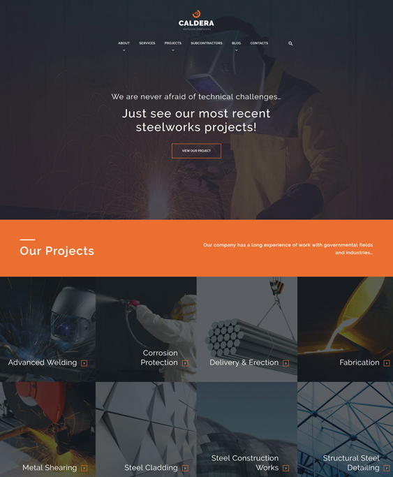 caldera construction wordpress themes