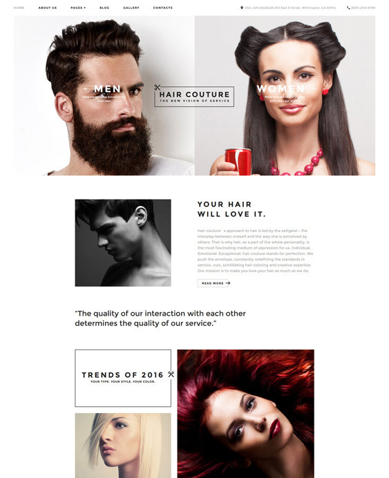 hair beauty salons spas joomla templates