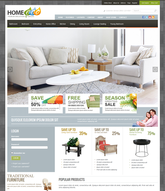 ot homeeco virtuemart joomla templates