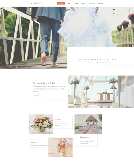 Wedding AG Joomla Template