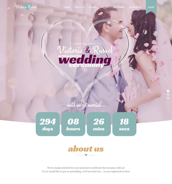 wedding joomla templates fuchsia